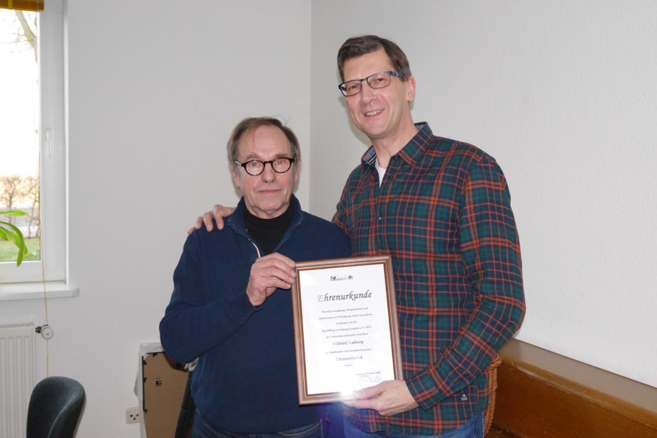 Ehrenmitgliedschaft Wilfried Kasburg